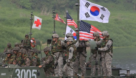 US-South Korean Army Conduct River Crossing Exercise